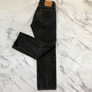 Levi's Original Vintage Look 505 Faded Black Jeans